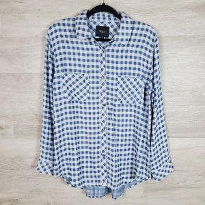 Rails Carter Mini Check Button Up Shirt Size XL